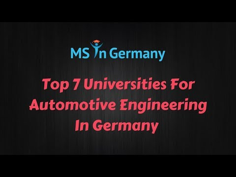 Top 7 Universities For Automotive Engineering In Germany (2018) - MS in Germany™