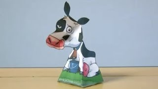 Amazing 3D Swivel Head illusion: Buttercup the Cow
