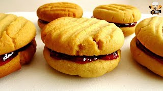 HOMEMADE PEANUT BUTTER & JELLY COOKIES RECIPE