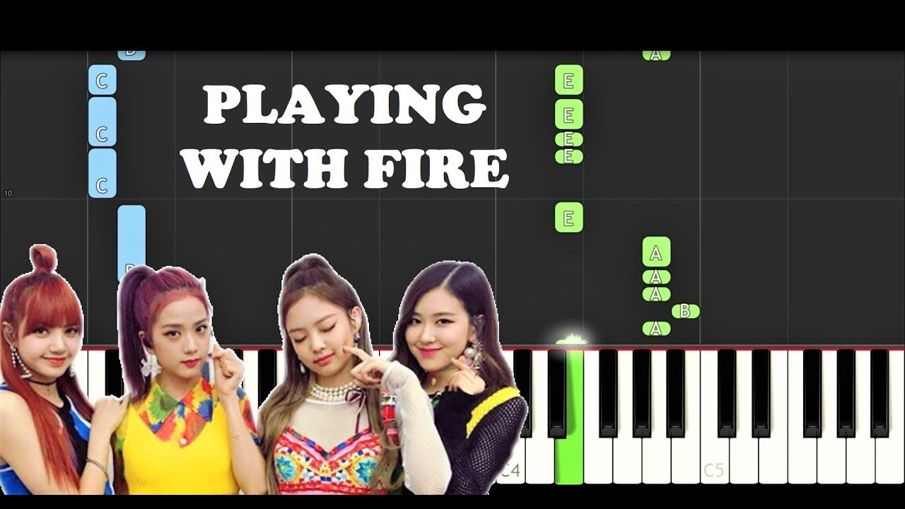 Blackpink Playing With Fire Easy Piano Tutorial
