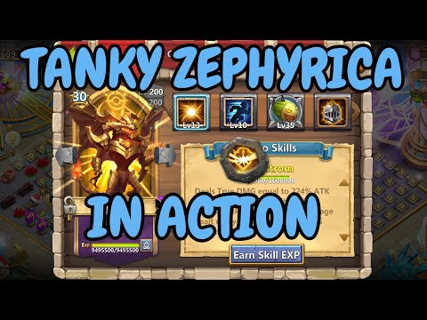 10/10 Stealth Zephyrica In Action L Castle Clash