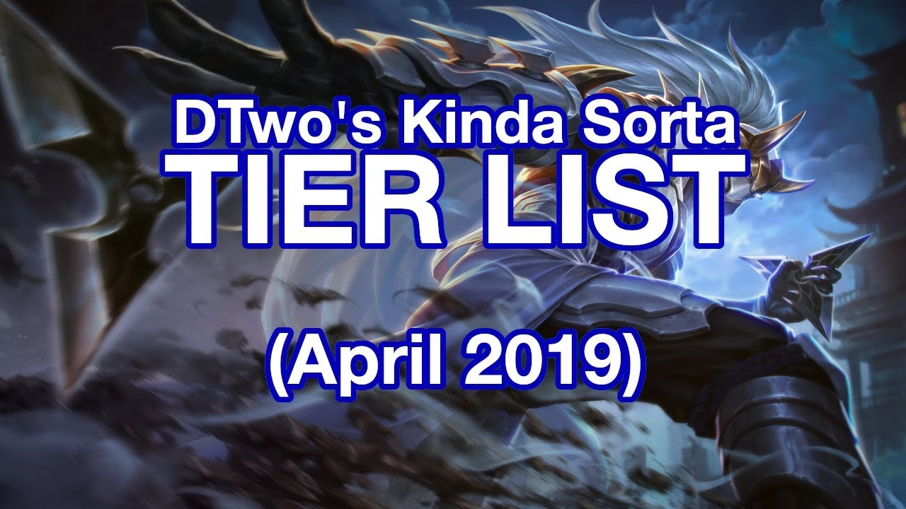[Arena of Valor] Tier List, Kinda (April 2019) - YouTube