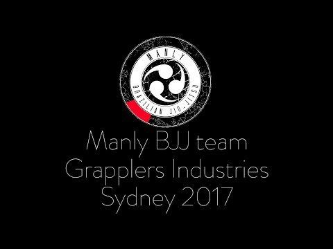 Manly BJJ team at Grapplers Industries Sydney 2017