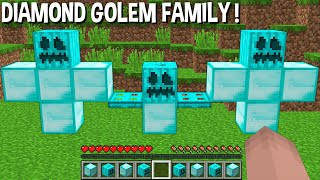 Minecraft, but just SUMMON DIAMOND GOLEM FAMILY and YOU WILL be SHOCKED !!!