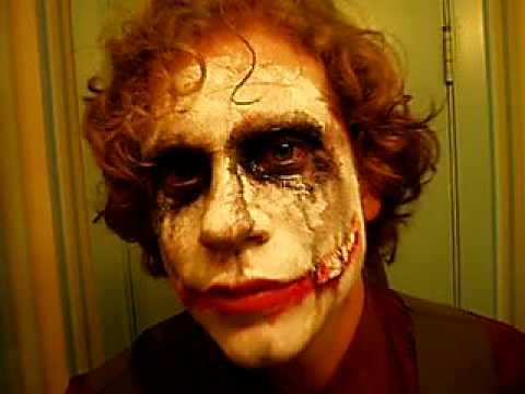 Heath Ledger Joker Halloween Costume 2008 San Francisco - YouTube