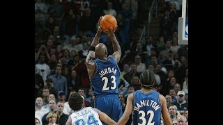 Michael Jordan 2002: 26 points and Gamewinning shot v Cavs