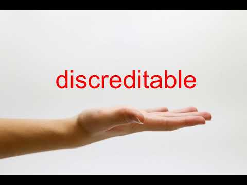 How to Pronounce discreditable - American English
