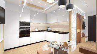 Дизайн интерьера однокомнатной квартиры(Архитектурно - дизайнерская мастерская ArchMasters http://archmasters.ru/, 2014-12-27T15:45:04.000Z)