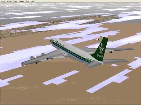 Microsoft Flight Simulator 98 | Riyadh to Kuwait | Saudia 707-320