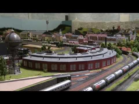 One of the largest HO scale model railroad layouts by Marklin in Germany