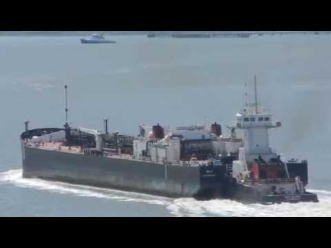 Gulf Reliance entering Carquinez Straits with her tank barge