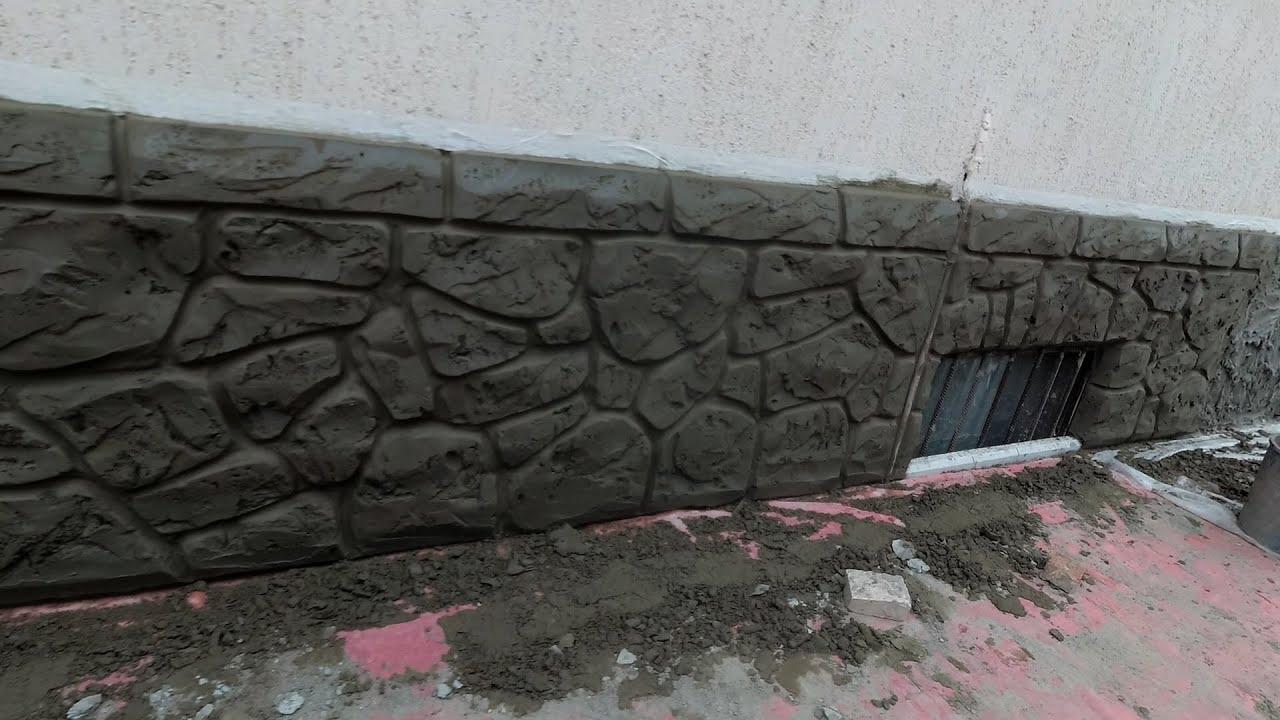 Ремонт цоколя дома. Декоративный камень из цемента. Фильм - 2-й.