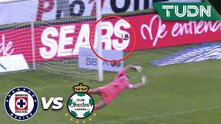 ¡Poste y se salva Cruz Azul! | Cruz Azul 2 - 0 Santos | Liga Mx - CL 2020 J-3 | TUDN