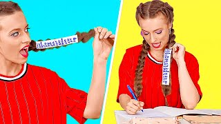 BEST SCHOOL HACKS OF ALL TIMES! || Funny School DIYs And Tricks by 123 Go! Genius