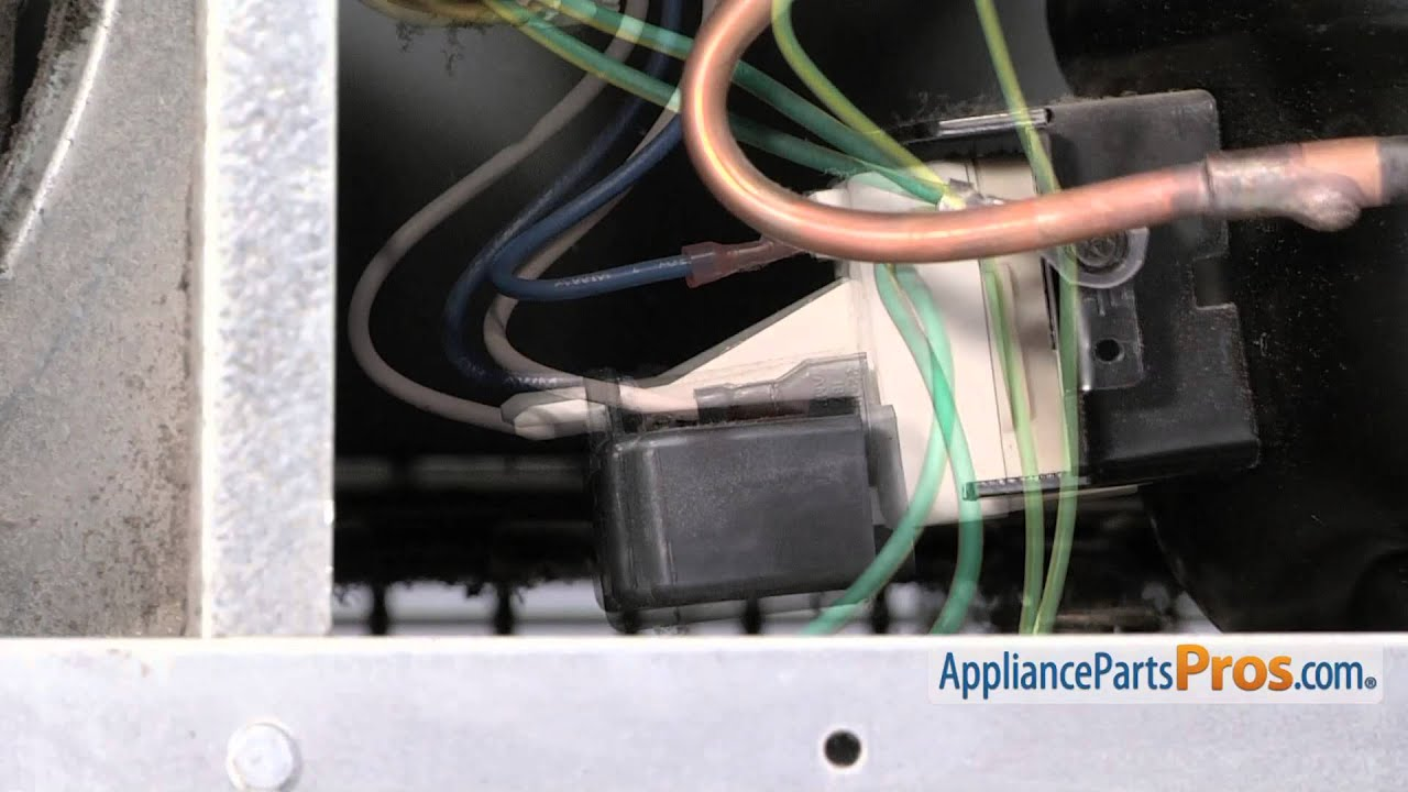 hight resolution of refrigerator relay overload part wp12555902 how to replace