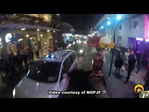 N.O.P.D. Horse Chase in French Quarter (2018)