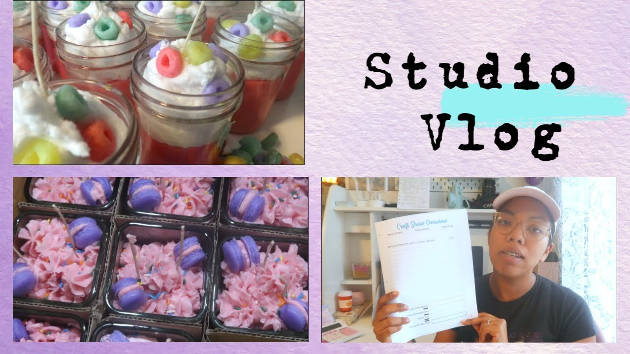 Etsy Shop Studio Vlog | New Etsy Shop & Making All The Candles