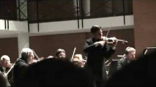 Violinist Stefan Tarara plays Tschaikowsky Violin concerto 3rd movement