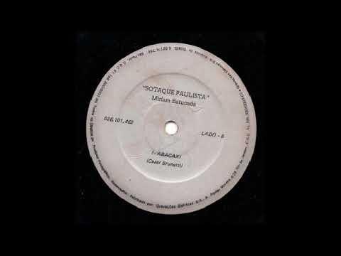 "MIRIAM BATUCADA - ABACAXI (Lado B) - 7"" single BRAZILIAN RECORD"