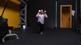 Dumbbell Front position duel lunges