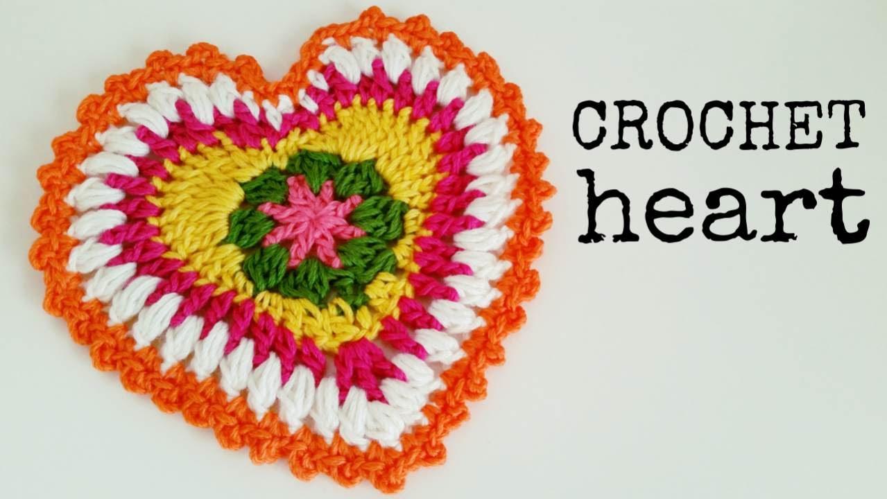 How to Crochet a HEART (great as POTHOLDER) ♥ CROCHET LOVERS - YouTube