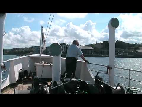 MV Balmoral sails Angelsey &  Menai Straits in the sun 2012