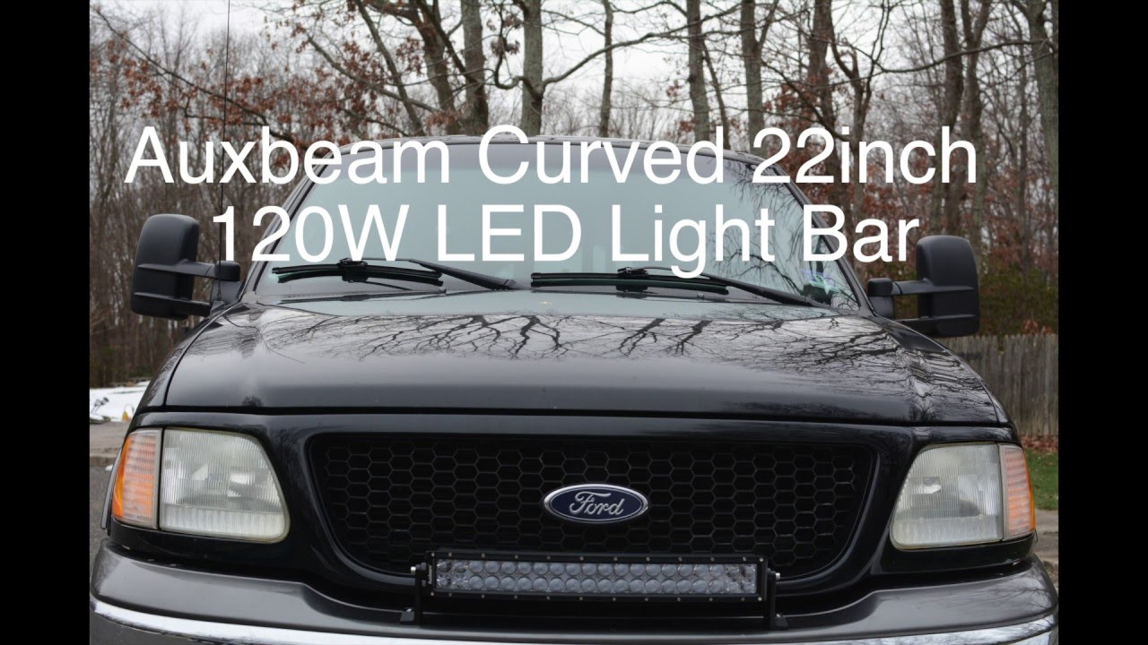 Auxbeam 22inch 215 120w Curved Led Light Bar With Lamphus 50 Inch Wiring Harness Cruizer
