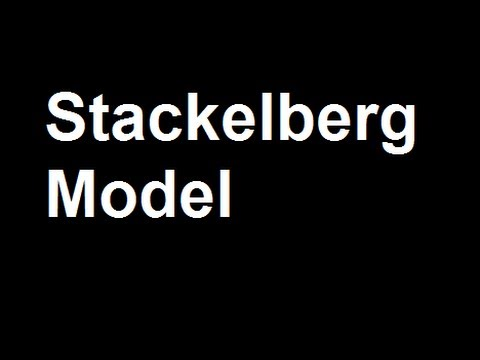 stackelberg model essay I- introduction: an oligopoly refers to the economic situation where there are several firms in the industry making a product whose price depends on the quantity.