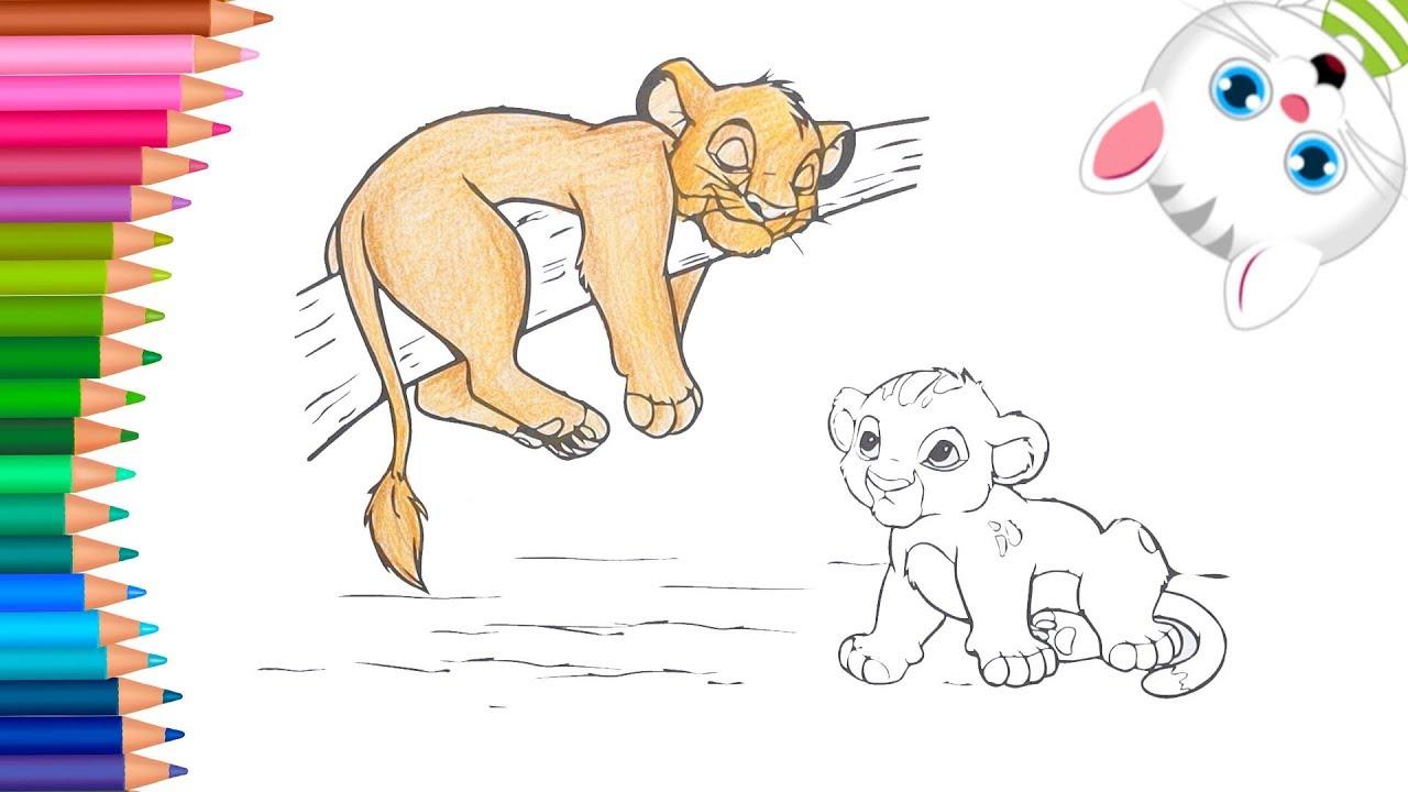 El Rey León Dibujos Para Colorear Dibujos Para Pintar Con Mimi Aprender Colores