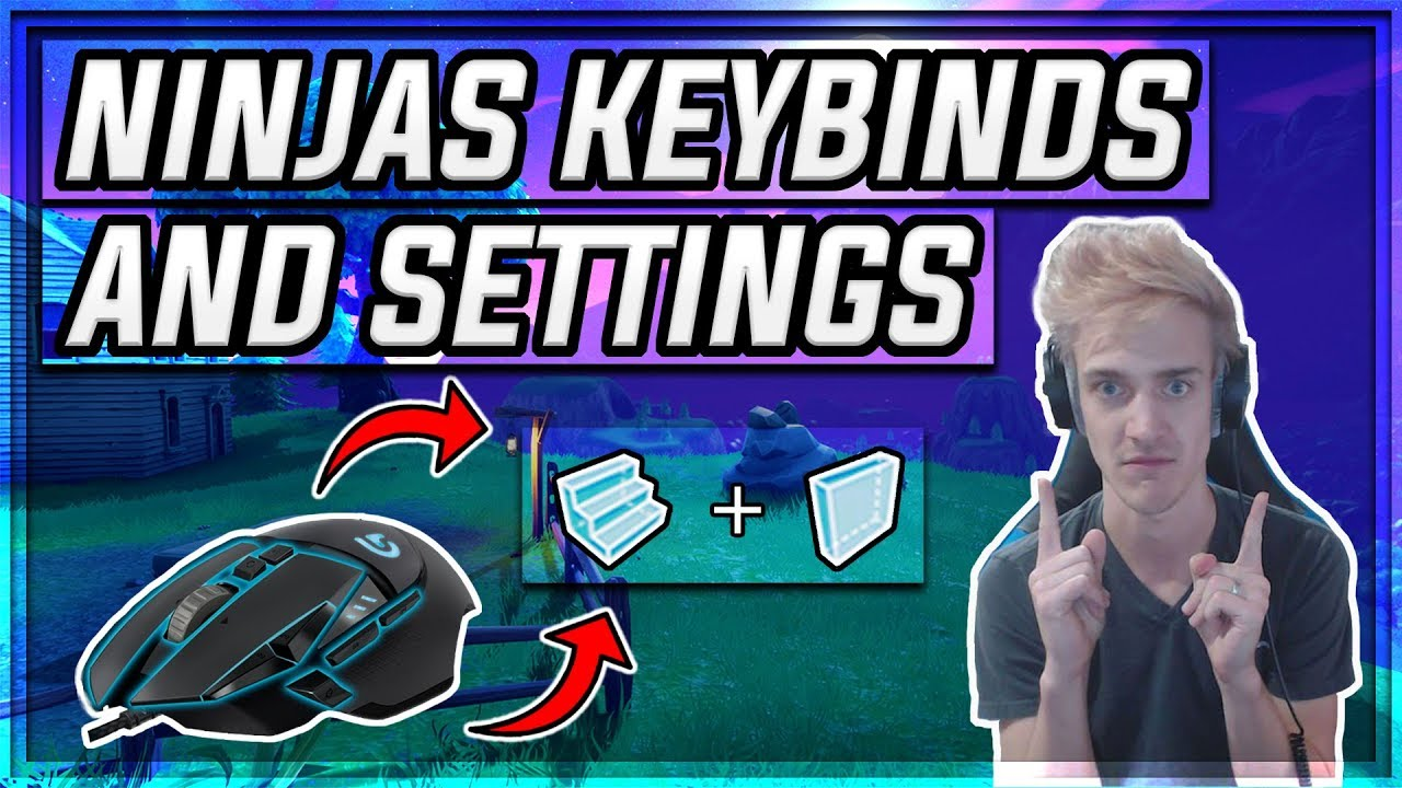 NINJA Fortnite Settings and Keybindings (April 2018)