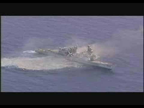 RIMPAC 08 호주 해군 신형 중어뢰에 격침당하는 표적함 USS David R. Ray (DD 971)