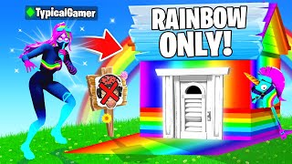 I Went UNDERCOVER in a RAINBOW ONLY Tournament! (Fortnite)