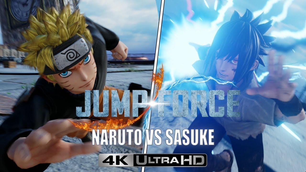 Jump Force Naruto Vs Sasuke 4k 60 Fps Youtube