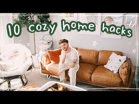 10 COZY HOME HACKS + DECORATING TIPS ☕Ideas + Inspiration For a Cozy Space!