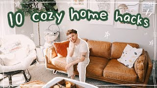 10 Cozy Home Hacks   Decorating Tips ☕ideas   Inspiration For A Cozy Space!