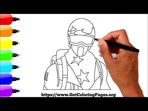 How to Draw Alpine Ace Skin Fortnite   Draw Step by Step