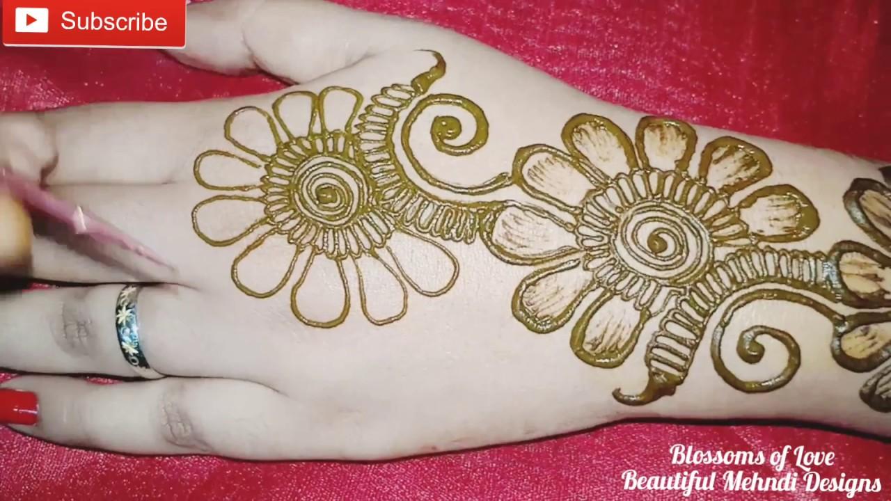mehndi designs for beginners simple