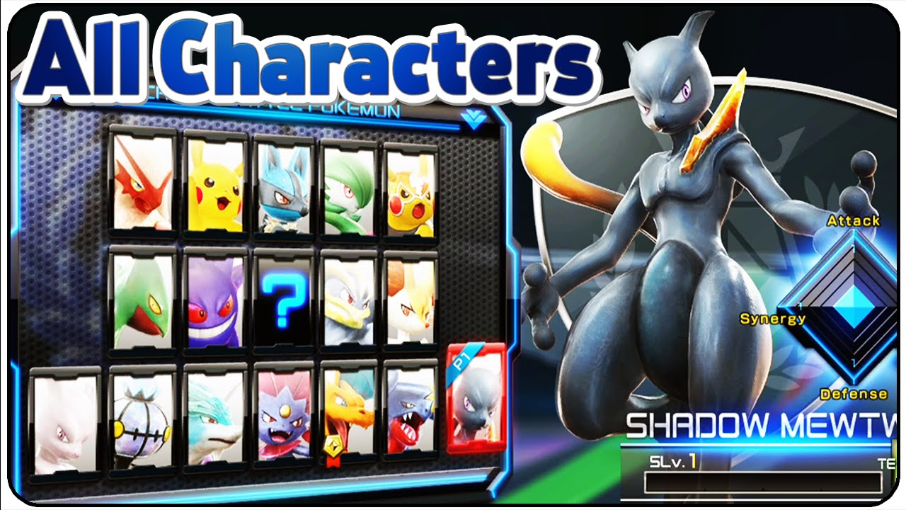 pokkén tournament all characters youtube