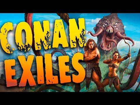 Как на меня напал ШЛАНГ! CONAN EXILES #3