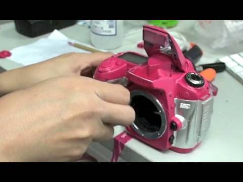 Guide on how to paint your DSLR pink