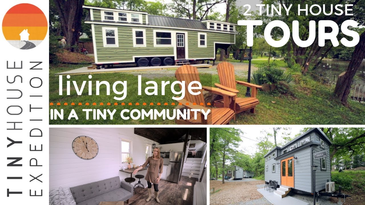 Large And Luxurious Tiny House In Community Living Youtube