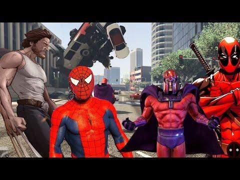 Örümcek Adam Şimşek Mcqueen, Afacan Magneto Örümcek Adam Wolverine Ve Deadpool Karşı