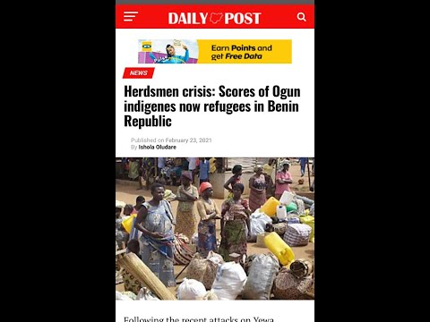 Herdsmen Crisis: Scores of Ogun indigenes now refugees in Benin Republic Credit daily post#CitizenAY
