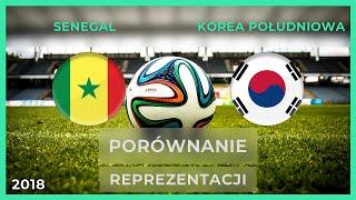 SENEGAL - KOREA POŁUDNIOWA   Porównanie reprezentacji   11.06.2018 (RANKING)