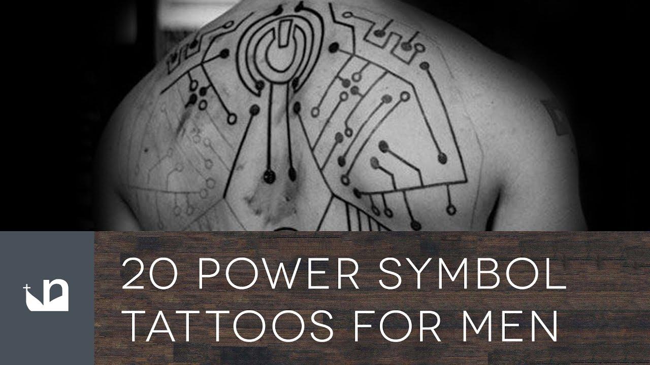 20 Power Symbol Tattoos For Men Youtube