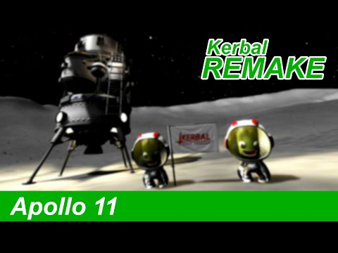 Apollo 11 Launch and Mission in KSP