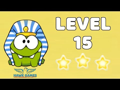 Cut The Rope: Time Travel - Level 4-15 [Ancient Egypt] 3 Stars & Snowflake Walkthrough