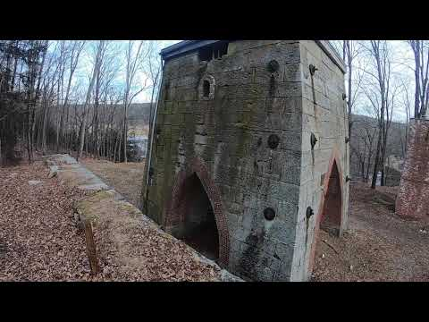 19th Century Iron Ore Mine Ruins At Minehill Preserve Connecticut