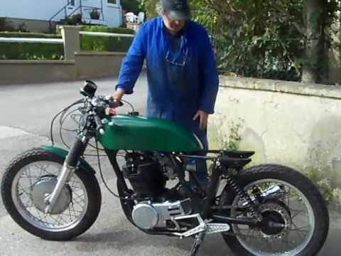 first one cafe racer xt 500 - youtube