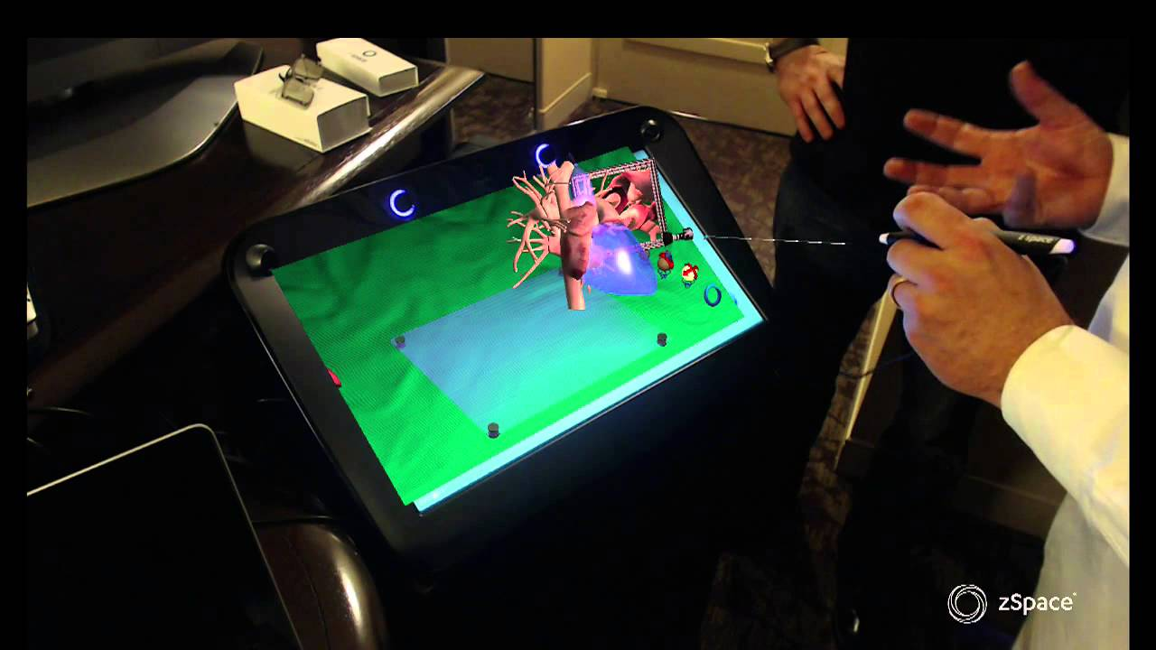 Demo Zspace Immersive 3d Display Technology At Sc13